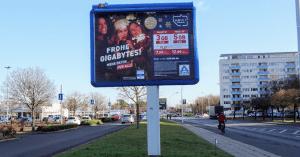 Plakatwerbung zur Neukundengewinnung